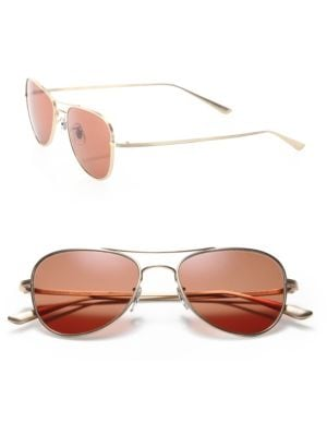 The Row For Oliver Peoples Executive Suite 53MM Titanium Aviator Sunglasses