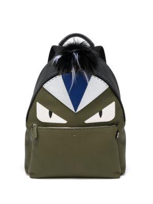 Monster Eye Leather Backpack