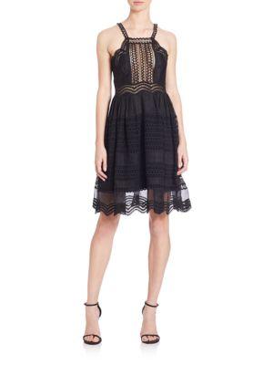 Grid Mesh Track Dress