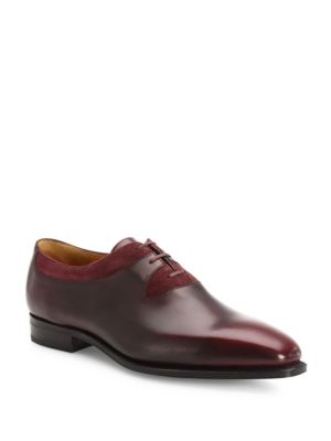 Duke Leather & Suede Lace-Up Oxfords