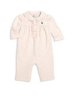 폴로 랄프로렌 여아용 아기 커버올 우주복 Polo Ralph Lauren Baby Girls Polo Coverall