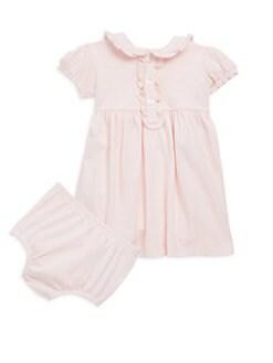 폴로 랄프로렌 여자 아기용 폴로 원피스 & 블루머 세트 Polo Ralph Lauren Baby Girls Polo Dress & Bloomers Set