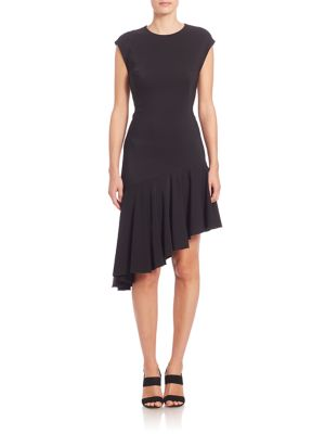 Jersey Asymmetrical Hem Dress