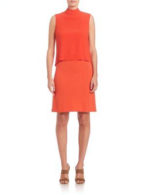 Jersey Mockneck Dress