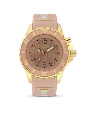 Power Silver Series Stainless Steel Analog Gold Sand Strap Watch