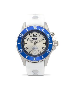 Marine Silicone and Stainless Steel Strap Watch, 400315