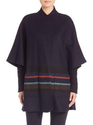 Wool Stripe Cape