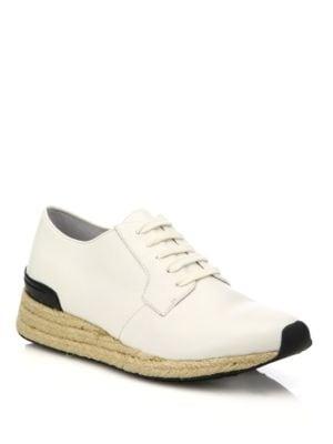 Rayner-3 Leather & Jute Sneakers