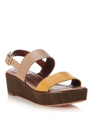 cole haan female 211468 cambon leather wedge sandals