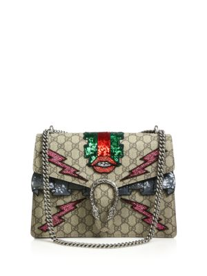 gucci female dionysus gg supreme embroidered bag