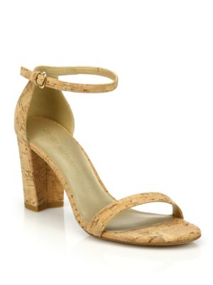 Nearlynude Cork Block Heel Sandals