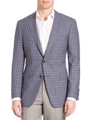 COLLECTION BY SAMUELSOHN Classic-Fit Plaid Wool Sportcoat