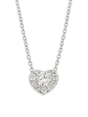 HEARTS ON FIRE Diamond & 18K White Gold Heart Pendant Necklace