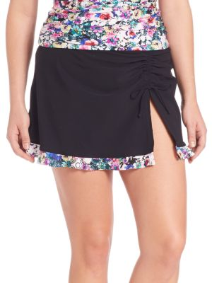 Fuji Skirt Swim Bottoms plus size,  plus size fashion plus size appare