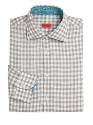 Regular-Fit Gingham Dress Shirt