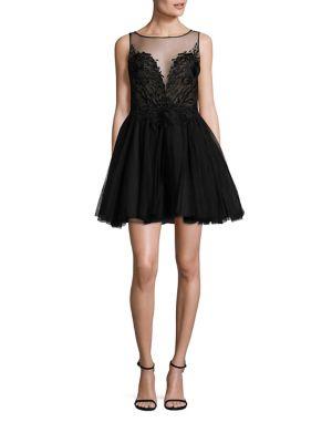 Fit & Flare Illusion Dress
