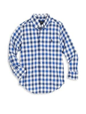 Boys Gingham ButtonFront Shirt