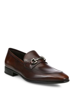 Leather Bit Loafers