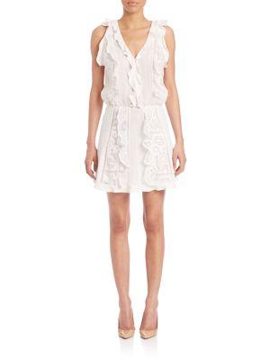 Celina Lace Ruffle Dress