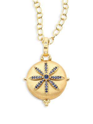 Celestial Sorcerer Diamond, Blue Sapphire & 18K Yellow Gold Locket