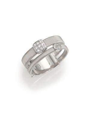 Masai Diamond & 18K White Gold Ring