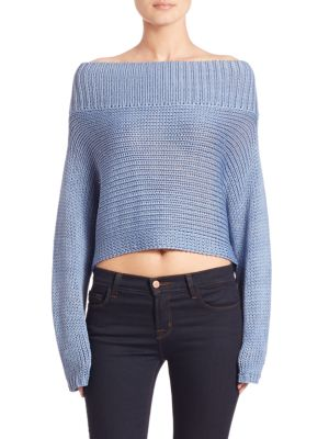 Neo Silk Cropped Pullover