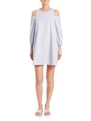Satin Poplin Cutout Dress