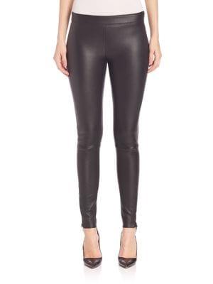 Navi Paneled Leather Leggings