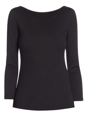 Elements Three-quarter Boatneck Jersey Top by Akris punto