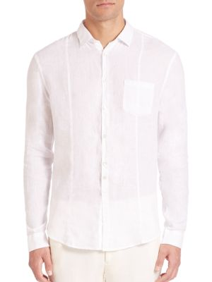 Slim-Fit Linen Button-Down Shirt