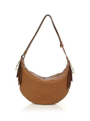salvatore ferragamo female 263045 gancio bracelet small leather hobo bag