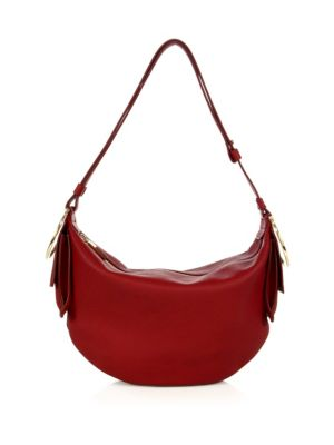 salvatore ferragamo female 250960 gancio bracelet small leather hobo bag