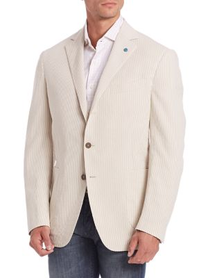 Beta Cord Striped Blazer