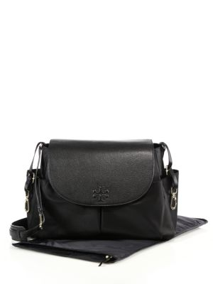 tory burch female 188971 thea nylon leather baby bag