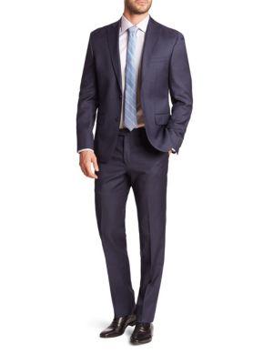 Sharkskin Wool Suit