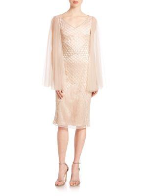 Joan Crystal-Net Cocktail Dress