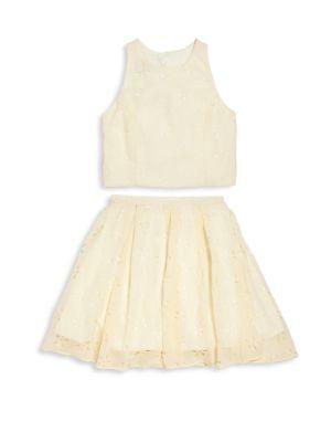 Girl's Two-Piece Top & Skirt Set plus size,  plus size fashion plus size appare