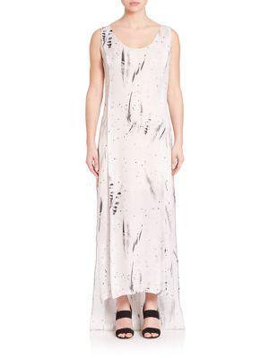 Sachey Feather-Print Dress