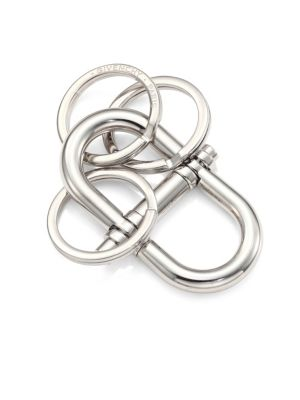 Silvertone Brass Key Ring