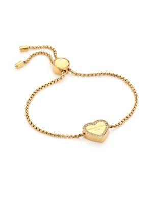 Heritage Pavé Heart Slide Bracelet/Goldtone