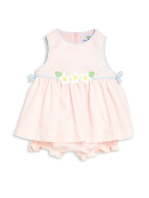 Babys TwoPiece Flower Dress  Bloomers Set