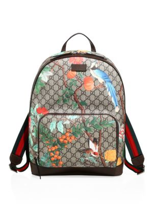 gucci male 187251 graphic print backpack