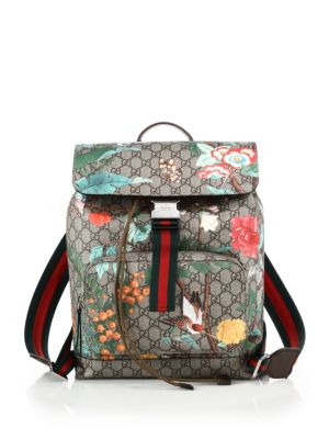 gucci male gg supreme printed backpack
