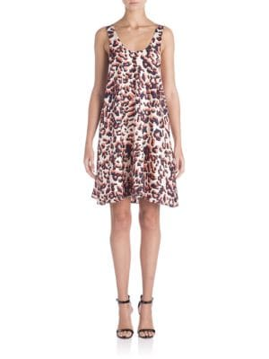 Animalier Silk Dress