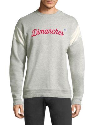 Long-Sleeve Dimanches Cotton Sweatshirt
