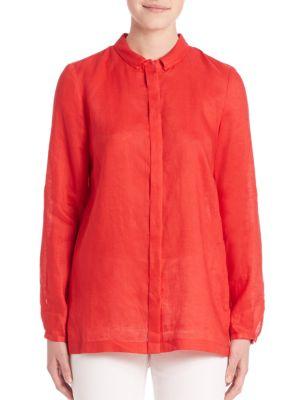 Carly Linen Blouse plus size,  plus size fashion plus size appare