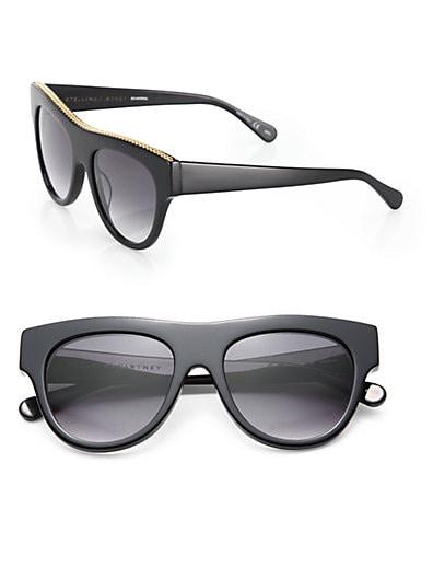 Stella McCartney Falabella Chain 51MM Cat's-Eye Sunglasses