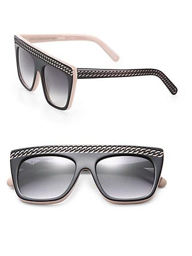Stella McCartney Falabella Chain 54MM Oversized Square Sunglasses