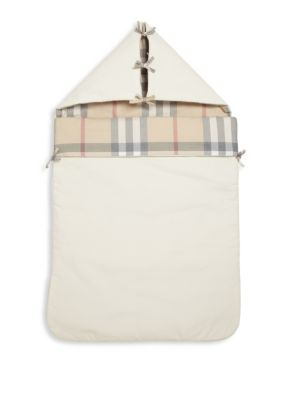 Baby's Lena Hooded Check Blanket