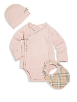 Baby's Bodysuit, Bib and Hat Set
